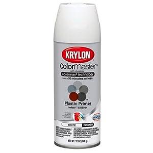 Krylon K05132100 Indoor Outdoor Plastic Primer White 5 Ball Decorator 12 Ounce Spray Paints
