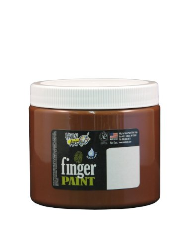 Handy Art by Rock Paint 241-050 Washable Finger Paint, 1, Brown, 16-Ounce - 1