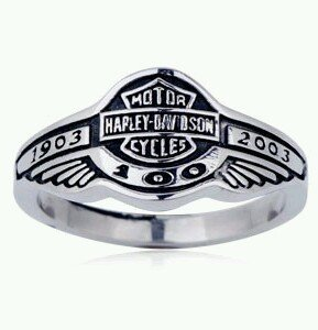 Motorcycle Biker Harley 100th Anniversary Ring size 8