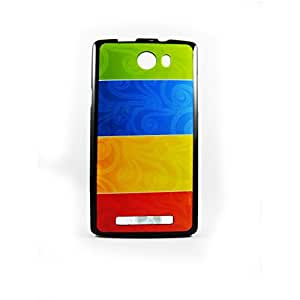 AVER Graphik 4 Color Soft TPU Back Case Cover for Karbonn S15 Mobile Cell Phone (Black)