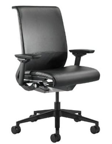 Steelcase Think Leather Chair, Black