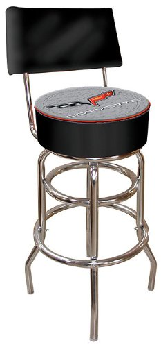 Chevrolet Corvette Padded Swivel Bar Stool with Back
