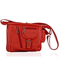 IGYPSY SWITCHER Red O2 Hand Bag Handbags Tote Sling Synthetic Leather Cross Body Bags For Ladies Women Girls Gift...