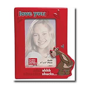 Love You Goober Ahhh Shucks Ceramic Picture Frame 8.25 inch for a 4 x 6 inch Photo