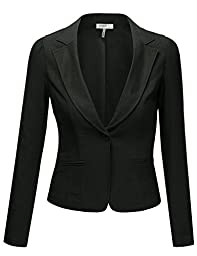 J.TOMSON Womens Boyfriend Blazer BLACK SMALL