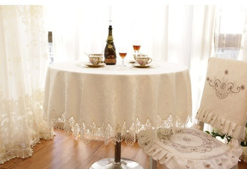 White Lace Shabby Chic Tablecloth by Diaidi