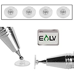 4 Soft Replacement Tips for E LV Fine Point Stylus with E LV Microfiber Digital Cleaner (ONLY REPLACEMENT TIPS)