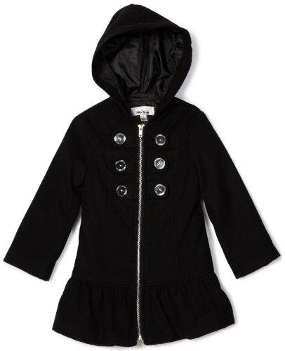 Amy Byer Girls 2-6X Hooded Coat, Black, 6X