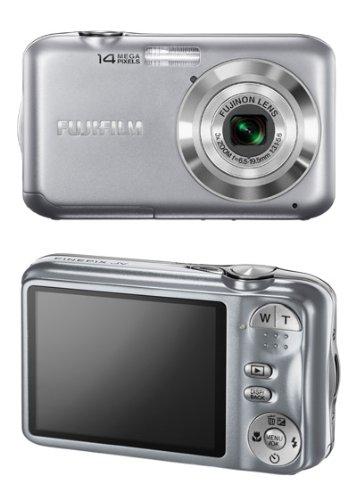 Fujifilm FinePix JV200 Digital Camera - Silver (14MP, 3x Optical Zoom) 2.7 inch LCD