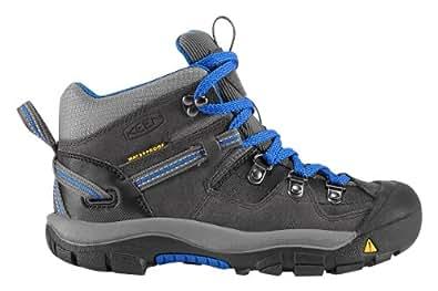 KEEN Clayton WP Hiking Boot (Toddler/Litte Kid/Big Kid),Magnet/Strong Blue,1 M US Little Kid