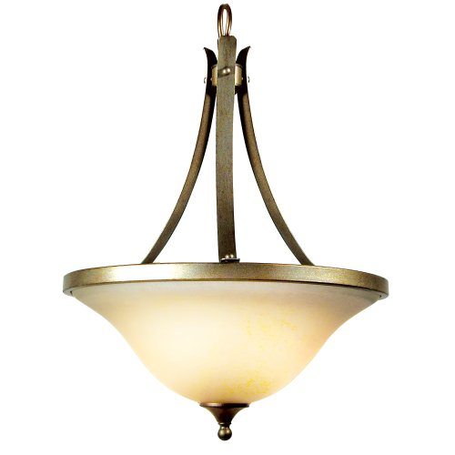 Yosemite Home Decor 7643-3Af El Portal Three Light Foyer Pendant, Antique Flemish Finish