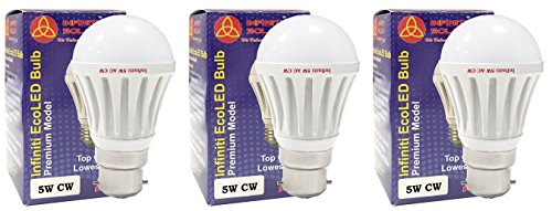 Eco-B22-5W-LED-Bulb-(Cool-White,-Pack-of-3)-