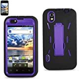 41fdGuJvcyL. SL160  LG Marquee/Ignite/LS855 Black/Purple Combo Silicone Case + Hard Cover + Kickstand Hybrid Case BoostMobile/Sprint