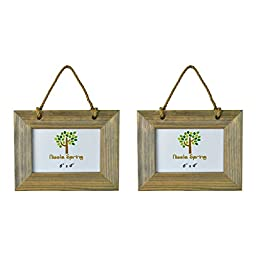 Nicola Spring Wooden Hanging Photo Picture Frame - 6 x 4\