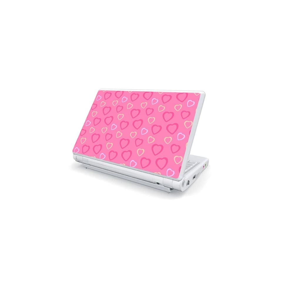 Pink Hearts Design Skin Cover Decal Sticker for Toshiba