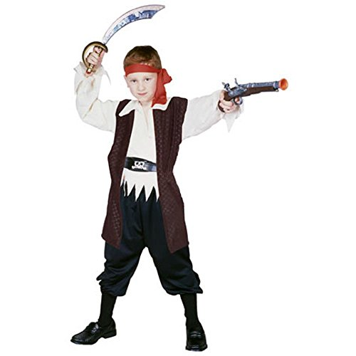 Child's Caribbean Pirate Boy Halloween Costume (Size: Large 12-14)