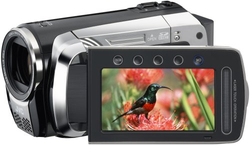 JVC GZ-HM200B Full High Definition Memory Camcorder With Dual SD/SDHC Card Slot With Konica Minolta High Definition Lens  &  Face Detection - Black