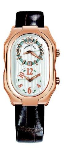 Philip Stein - 12RG-LW-ABR - Montre Mixte - Quartz Analogique - Cadran Blanc - Bracelet Cuir Noir