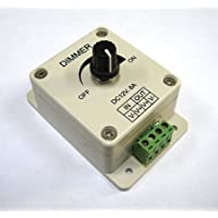 LEDwholesalers PWM Dimming Controller For LED Lights or Ribbon, 12 Volt 8 Amp, 3301