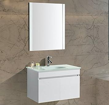 Mobile Arredo Bagno Easy 70 cm Bianco Moderno Sospeso