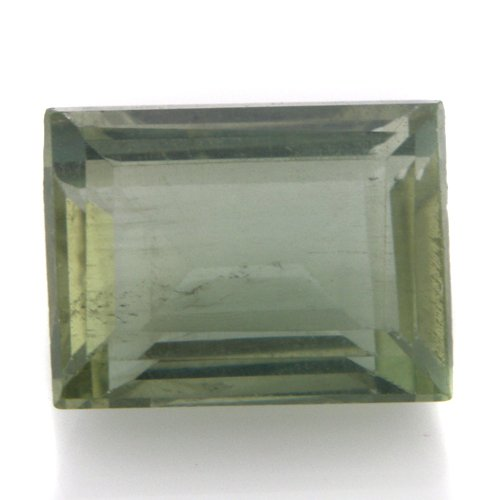 Natural Africa Green Apatite Loose Gemstone Emerald Cut 9*7mm 3.45cts