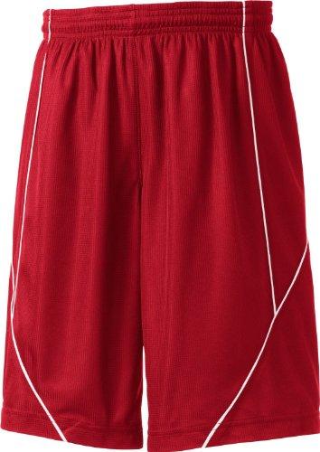 Sport-Tek Yt565 Youth Posicharge Mesh Reversible Short - True Red - S front-837681