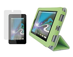 iShoppingdeals - Green PU Leather Folio Cover Case and Anti Glare Matte Screen Protector for HP Slate 7 INCH Tablet 2800 from Electronic-Readers.com