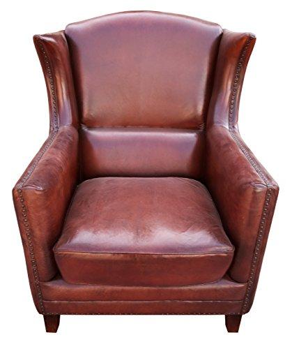 The Attic Longford Single Seater Sofa (Glossy Finish, Brown)