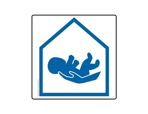 Compliancesigns Aluminum Child Safety Sign, 18 X 18 In. With Symbol Only, White front-138414