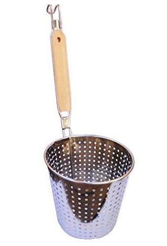 Passoire chinois tamis Panier nid à friture manche bois grand modele