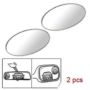 2 Pcs Round Stick-On Convex Blind Spot Mirror Set