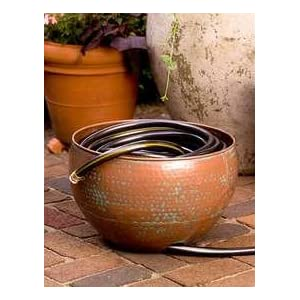 Copper Garden Hose Pot