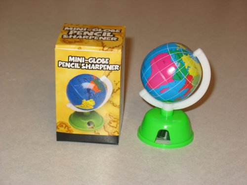 "Mini Globe Earth Pencil Sharpeners - 3"" - 1"