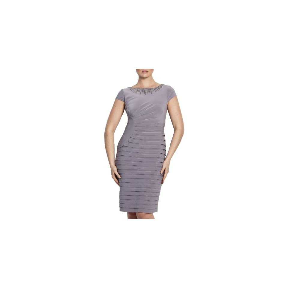 Adrianna Papell Womens Ruched Bandage Dress