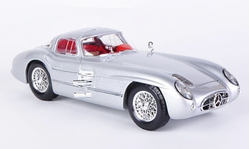 Mercedes 300 SLR, Uhlenhaut Coupe, silber, Modellauto, Fertigmodell, Maisto 1:18