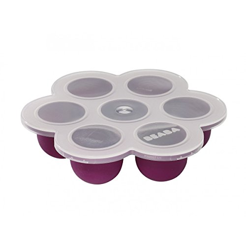BEABA Silicone Multi-Portions Container, Plum