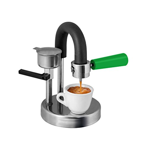 KAMIRA Green version, Moka Express 1/2 Cups Stovetop Espresso Maker, MADE IN ITALY! ... (green)