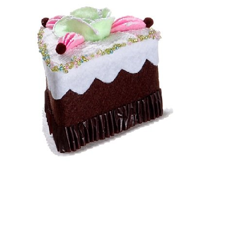 Sliced Chocolate Cake with Flower Christmas Ornament