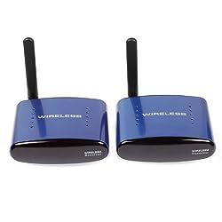 SainSonic SS-630 5.8GHZ AV Wireless Audio Video Transmitter & Receiver 200M Blue