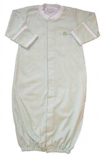 Kissy Kissy Baby Boys Homeward Gingham Embroidered Froggie Convertible Gown-Small front-961163