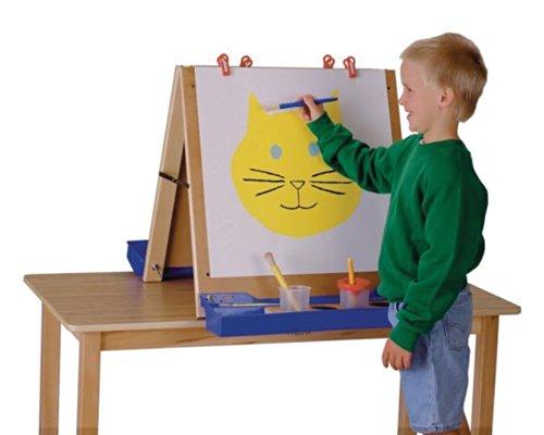 Jonti-Craft Kids Children School Playroom Acrylic Double Side Art Painting Drawing Board Tabletop Easel