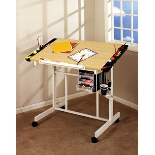 DELUXE CRAFT STATION IN UPS BOX IN WHITE/MAPLE BY STUDIO DESIGN