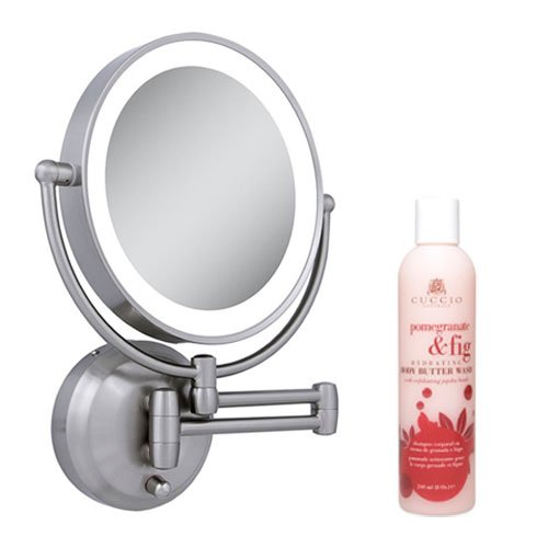 Zadro Ledw410 Led Lighted Wall Mounted Mirror And Cuccio