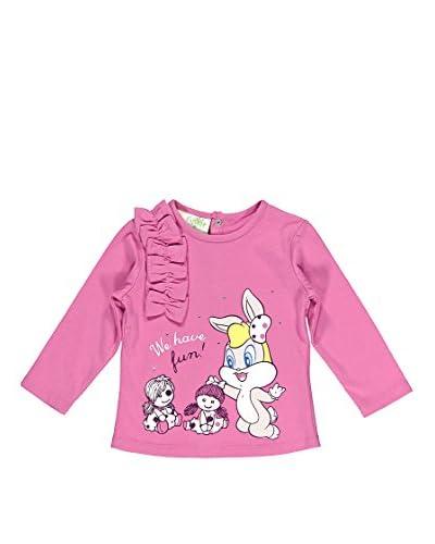 Bimbus T-Shirt con Fiocchi [Rosa Scuro]