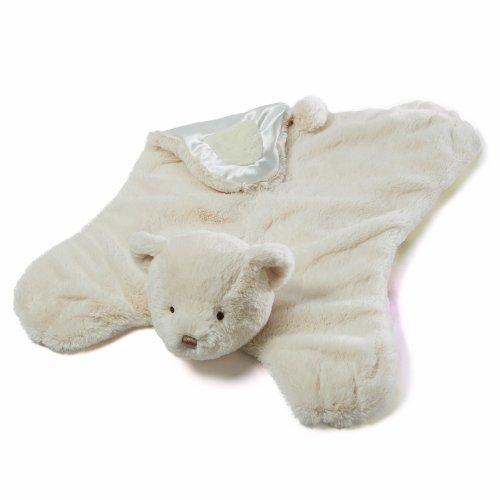 Gund Amandine Teddy Bear Comfy Cozy Baby Blanket front-942548