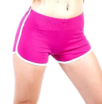 Popular Basics Women's Retro Inspired Cotton Blend Casual Athletic 'Running' Short