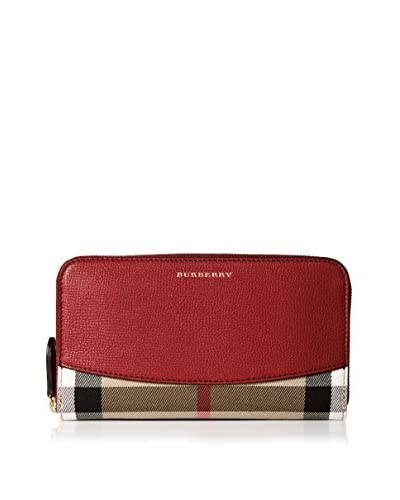 Burberry Women's Zip Wallet, Red