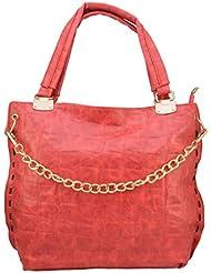 Omkar Shopy New Fashion Women's Ladies PU Hand Bag / Shoulder Bag (Red) OS12500347
