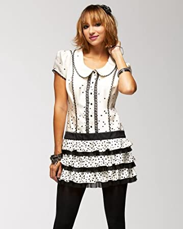 bebe Spotted Silk Collared Dress :  spotted silk collared dress dress dresses bebe