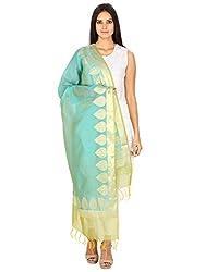 Devam Women's Silk Cotton Blend Woven Handloom Dupatta 90X250 CMS